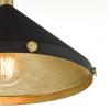Dar Lighting EDE0154 Edena 1 Light Pendant Matt Black And Gold Leaf