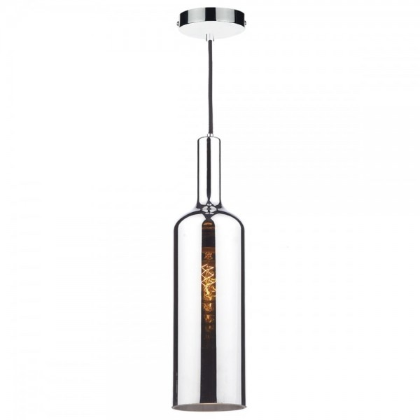 Dar Lighting ELA0150 Elan 1 Light Pendant Polished Chrome