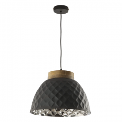 Dar Lighting WAZ0139 Wazir Pendant Grey and Mango Wood