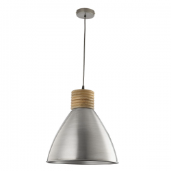 Dar Lighting VIM0161 Vimbai Pendant Zinc & Wood