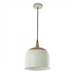Dar Lighting SEO0124 Seona Pendant Green & Wood
