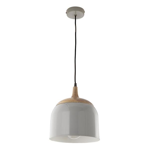 Dar Lighting SEO0139 Seona Pendant Grey & Wood