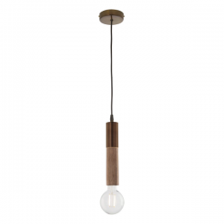 Dar Lighting ZIV0135 Ziva Pendant Gold & Wood