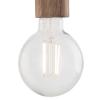Dar Lighting ZIV0135 Ziva Pendant Gold & Wood