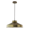 Dar Lighting KED0145 Kedric Pendant Small Aged Brass