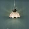 Dar Lighting PEY0146 Peyton 1 Light Pendant Satin Nickel And Textured Glass