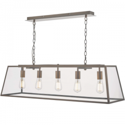 Dar Lighting ACA0564 Academy 5 Light Bar Pendant Antique Copper
