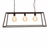 Culinary Concepts VNA-TPL-CHD Vienna Triple Trapeze Chandelier Frame with Black Finish