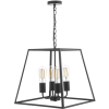 Dar Lighting ACA8622 Academy 4 Light Lantern Black