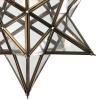 Dar Lighting ILA0175 ILARIO 1 Light Star Pendant Antique Brass Glass Small