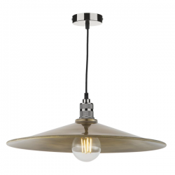 Dar Lighting SAU8675 Saucer Easy Fit Pendant Large Antique Brass