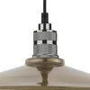 Dar Lighting SAU8675 Saucer Easy Fit Pendant Large Antique Brass