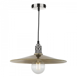 Dar Lighting SAU6575 Saucer Easy Fit Pendant Small Antique Brass