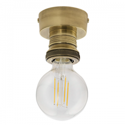 Dar Lighting SF4875 Flush Suspension Antique Brass