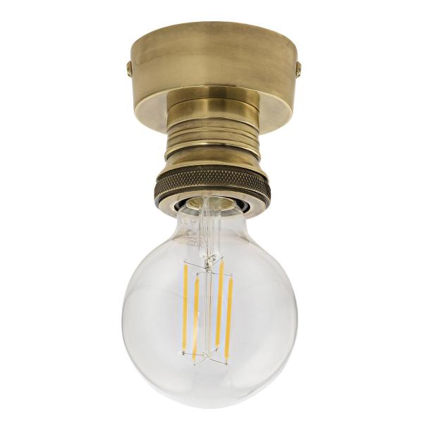 Dar Lighting SF4875 Flush Suspension Antique Brass