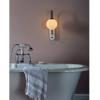 Dar Lighting DEU0739 Deuce Wall Light Grey & Marble IP44