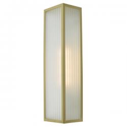 Dar Lighting KEE5041 Keegan 1 Light Wall Light Satin Brass IP44