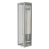 Dar Lighting KEE5044 Keegan 1 Light Wall Light Polished Stainless Steel IP44