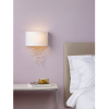 Dar Lighting CEV0735 Cevero Wall Light Gold C/W Shade