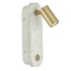 Dar Lighting GOB0712 Gobi Wall Light Marble Effect & Satin Brass LED