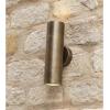 Dar Lighting ORT3275 Ortega 2 Light Wall Light Antique Brass IP65