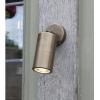 Dar Lighting ORT0775 Ortega 1 Light Wall Light Antique Brass IP65