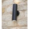 Dar Lighting ORT3222 Ortega 2 Light Wall Light Black IP65