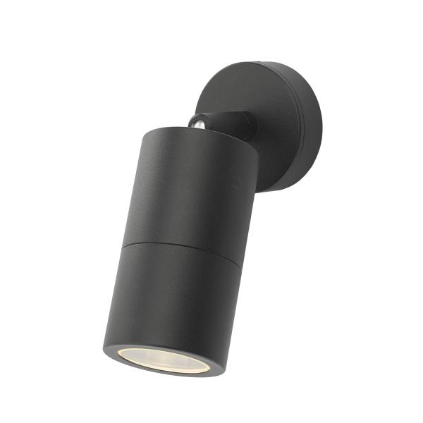 Dar Lighting ORT0722 Ortega 1 Light Wall Light Black IP65