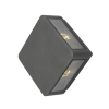 Dar Lighting WEI2139 Weiss 4 Light Wall Light Square Anthracite IP65 LED