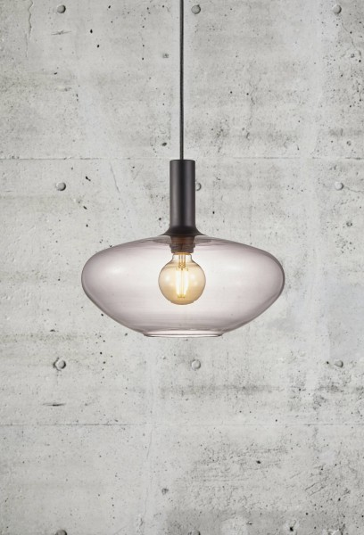 Nordlux 48973047 Alton 35 Ceiling Pendant Light in Smoked Glass