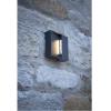 Dar Lighting YUK2139 Yukon 1 Light Wall Light Square Eyelid Anthracite IP65 LED