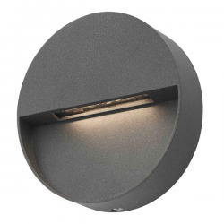 Dar Lighting UGO2139 Ugo 1 Light Wall Light Round Eyelid Anthracite IP65 LED