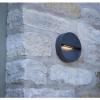 Dar Lighting UGO2139 Ugo 1 Light Wall Light Round Eyelid Anthracite IP65 LED