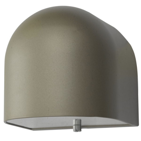 Dar Lighting EGH1532 Egham Wall Light Silver LED IP44