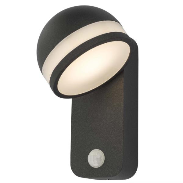 Dar Lighting TIE1539 Tien 1 Light W/ Light Adjustable Anthracite Sensor IP65 LED