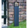 Dar Lighting MAL4539 Outdoor Post with Square Light Anthracite IP65 LED