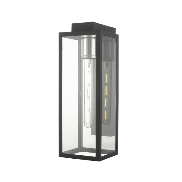 Dar Lighting NAX1522 Naxos Wall Light Black IP43