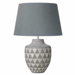 Dar Lighting MUL4239 Mulan Table Lamp Ceramic & Grey Base Only