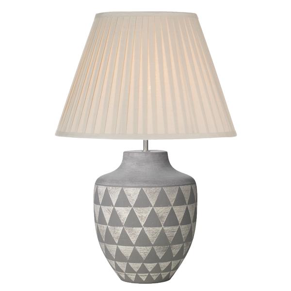 Dar Lighting MUL4239 Mulan Table Lamp Ceramic & Grey Base Only