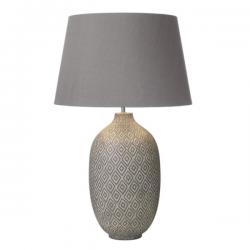 Dar Lighting CEY4139 Ceyda Table Lamp Ceramic & Grey Base Only Small