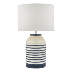 Dar Lighting ZAB4223 Zabe Table Lamp White & Blue C/W Shade