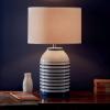 Dar Lighting ZAB4223 Zabe Table Lamp White & Blue C/W Shade
