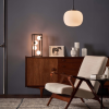 Dar Lighting ENS4222 Ensio 4lt Table Lamp Matt Black & Opal Glass