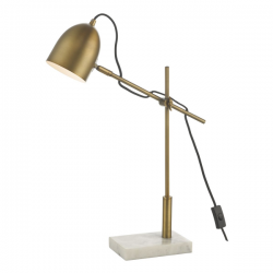 Dar Lighting MEN4263 Mendal Task Lamp Bronze & Marble