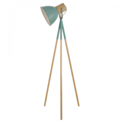 Dar Lighting ADN4924 Adna Floor Lamp Green And Natural Wood