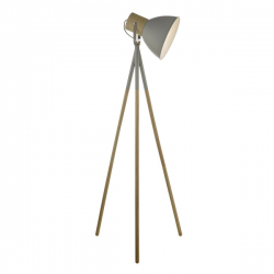 Dar Lighting ADN4939 Adna Floor Lamp Grey & Wood
