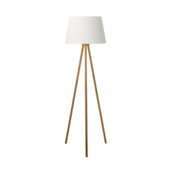 Dar Lighting YOD4943 Yodella Floor Lamp Wood Base Only