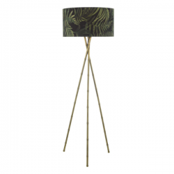 Dar Lighting BAM4975 Bamboo Floor Lamp Antique Brass Base Only