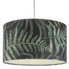 Dar Lighting BAM8655 Bamboo Easy Fit Shade Green Leaf Print Large