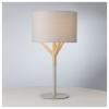 Dar Lighting EAT4239 Eatu Table Lamp Wood & Grey C/W Shade